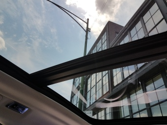 That really is a giant sunroof ...